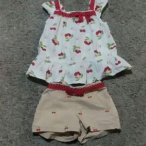 Gymboree Cherry Short and Cap Sleeve Top Set